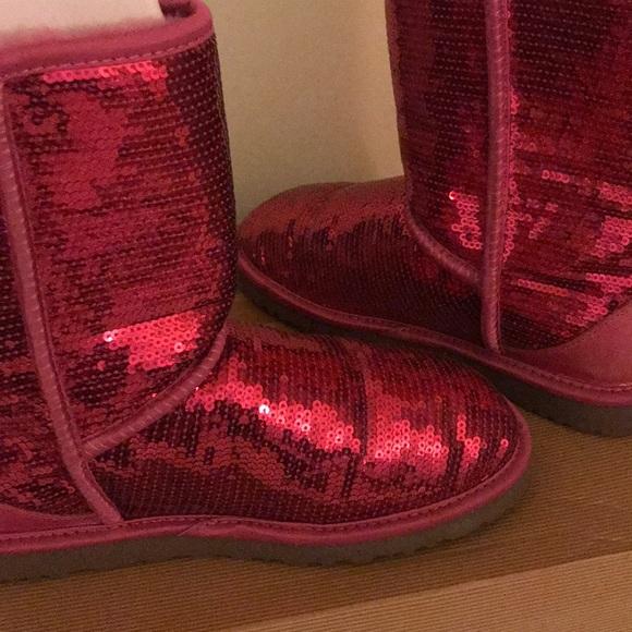 Pink Sequin UGG Boots
